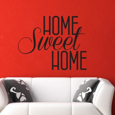 Pick and Stick Sticker Mural Home sweet Home - 50 x 55 cm, Noir