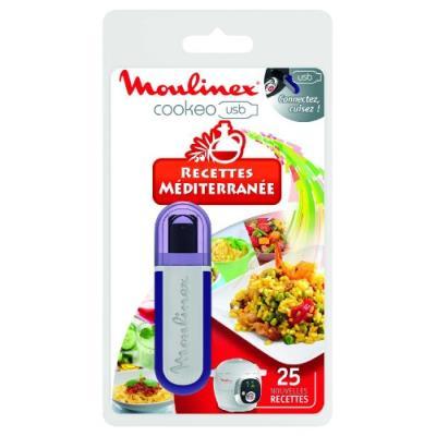 Moulinex xa600011 clé usb cookeo - 25 recettes méditerranée