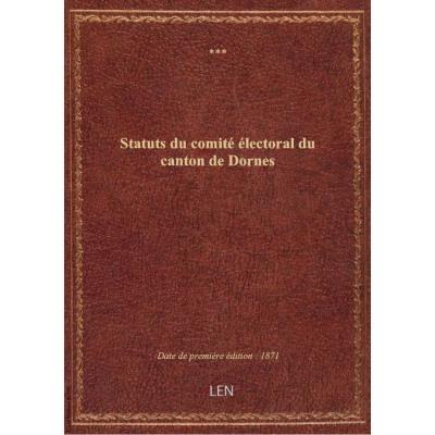 Statuts du comité électoral du canton de Dornes