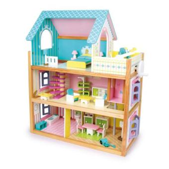 maxi maison en bois idale pour barbies comme pour playmobil de 73 x 67 cm avec tous les meubles de la photo autres jouets en bois achat prix fnac