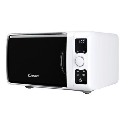 Candy EGO G25DCW - four micro-ondes grill - pose libre - blanc métallisé