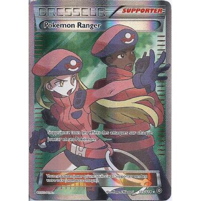 Carte Pokemon - XY11- Offensive vapeur - Pokémon Ranger - Dresseur - 113/114 - Ultra Rare - Full Art - VF