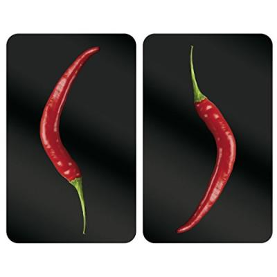 Wenko 2521380100 protège-plaque universel 2 pièces hot peperoni