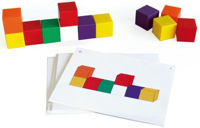 Oz International - Cubes Geometrie + Fiches - Lot De 50