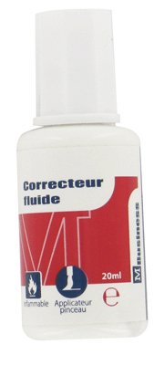 Majuscule - Correcteur Fluide - Flacon De 20 Ml