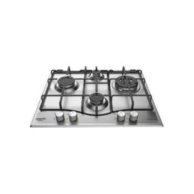 Hotpoint Ariston PCN 641 T/IX/HA - Table de cuisson au gaz - 4 plaques de cuisson - Niche - largeur : 55.5 cm - profondeur : 47.5 cm - argent - acier inoxydable