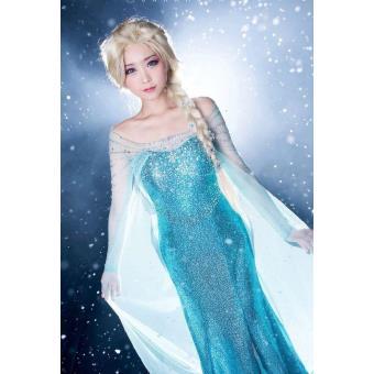 Robe d guisement elsa adulte la reine des neiges - Robe elsa reine des neiges ...