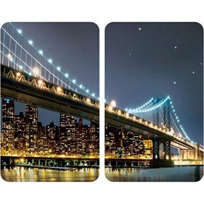 Wenko 2521320100 protège-plaque universel 2 pièces brooklyn bridge
