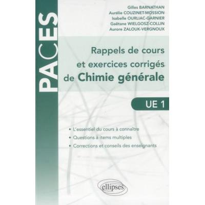 Rappels De Cours Et Exercices Corriges De Chimie Generale Questions A Items Multiples Ue1