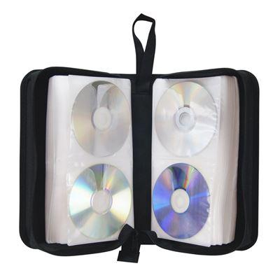 Pochette CD transport zippée 128 CD