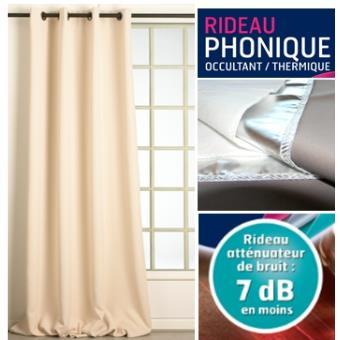 Rideau Phonique Occultant Thermique Moondream Achat Prix Fnac