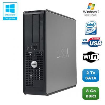 Processeur : Intel Pentium E7500 2.93GHz - Coeur : 2 - Socket 775 Mémoire Vive : 8 Go - DDR3 Disque dur : 2000 Go SATA Lecteur optique : Lecteur DVD Contrôleur graphique : Intel® GMA 4500 Réseau: Intel® 82567LM Gigabit Ethernet LAN 10/100/1000 + Clé Wifi