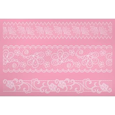 Kitchen craft de 40 x 27 cm kitchen craft sweetly does it poche à douille silicone tapis bordure en dentelle rose