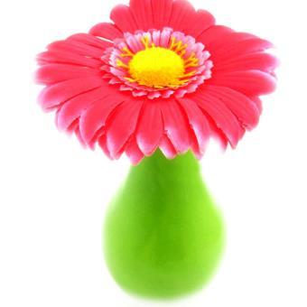 Vase Deco Marguerite Rose Fleur Artificielle Achat Prix Fnac