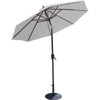 Imagin Parasol Inclinable Diametre 3m Gris Souris Mobilier De