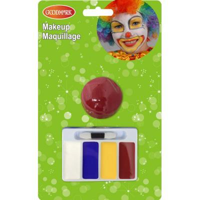 Set maquillage clown taille unique