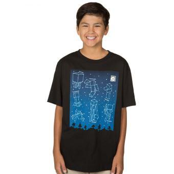 1034af5ecf757 Tshirt Minecraft enfant - Constellations - Noir - 11 - 12 ans, T-Shirt, Top  Prix | fnac