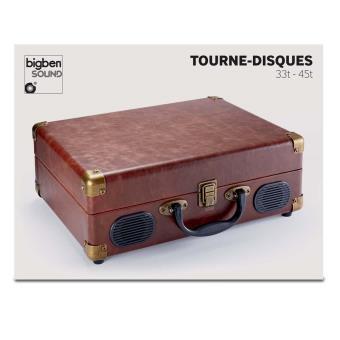 Tourne disques valise cuir 3 vitesses