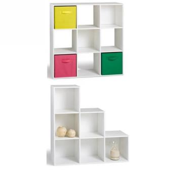 compo cube 9 cases meuble escalier blanc achat prix. Black Bedroom Furniture Sets. Home Design Ideas
