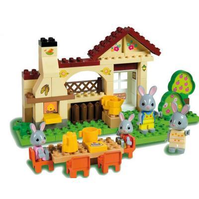 La maison d'été de la famille lapin