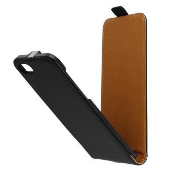 Etui iPhone SE 2020 7 8 Houe a Clapet Vertical Coque sur mesure Noir