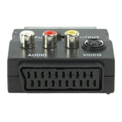 Adaptateur péritel femelle - Svidéo + 3 RCA (compatible FREEBOX)