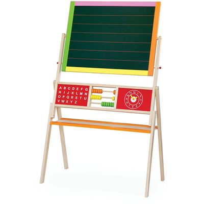 Viga Toys - 50951 - Tableau Noir Et Blanc Magnétique