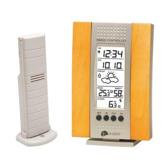 Station météo avec températures intérieure extérieure et