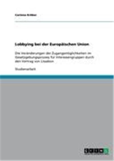 Lobbying bei der Europäischen Union