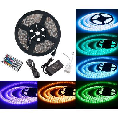Ruban Bande LED Lumineuse - Etanche (5m) 5050 RGB SMD Multicolore 300 LEDs 60W