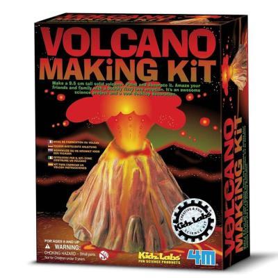 Kit fabriquer un Volcan Eruption volcanique loisir créatif Enfant 8 ans +