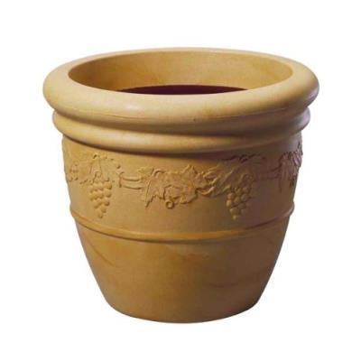 Stewart Pot De Fleurs Gravures Traditionnelles Raisins Grès 47 Cm