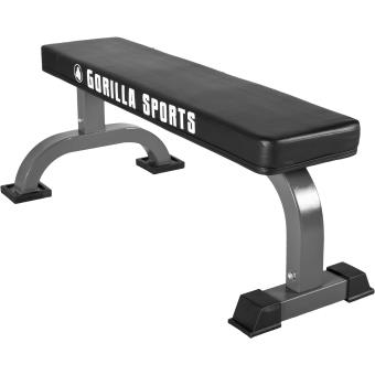 Banc De Musculation Plat Avec Logo Gorilla Sports Musculation