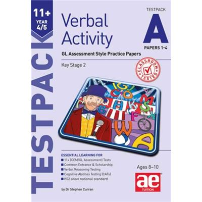 11+ Verbal Activity Year 4/5 Testpack A