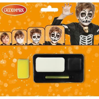 Kit maquillage squelette halloween taille unique