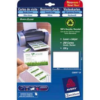 Pochette De 80 Cartes Visite Format 85 X 54 Cm 260g QuickClean Jet Dencre Mate Qualite Superieure Chemise Sous Et Rabat Elastique