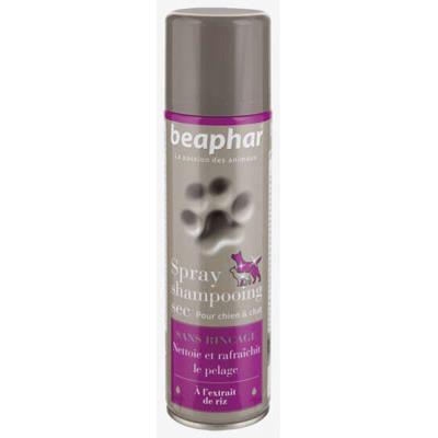 Beaphar Spray Shampooing Sec Sans Rinà§age à L'extrait de Riz pour Chien et Chat 250 ml