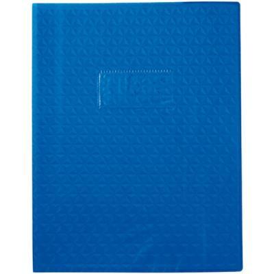 Protège-cahiers en PVC 17 x 22 cm série opaque, coloris bleu foncé - Paquet de 30