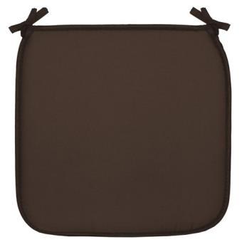 galette de chaise 40x40 gaby marron achat prix fnac - Coussin De Chaise 40x40