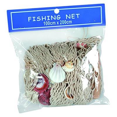 Fêter et recevoir filet de pêche avec coquillage