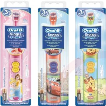 oral b stages power db3 brosse dents lectrique piles pour enfants le mod le al atoire. Black Bedroom Furniture Sets. Home Design Ideas