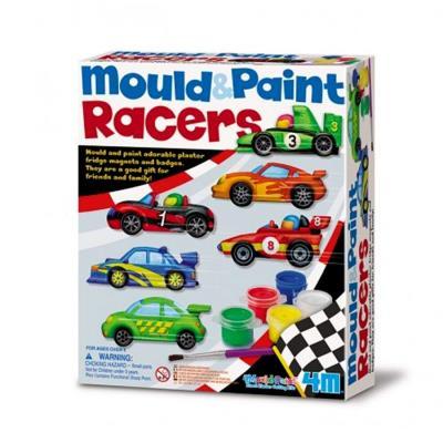 Kit moulage peinture Magnets Voiture de courses Loisir créatif enfants 5 ans +