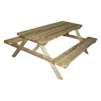Table de pique-nique Forestière bois 4/6 places - Mobilier de Jardin ...