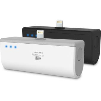 Novodio Rapid Charger Noir Batterie externe 2200 mAh avec