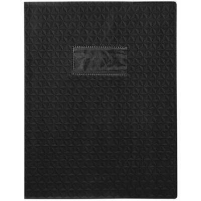 Protège-cahiers en PVC 17 x 22 cm série opaque, coloris noir - Paquet de 30