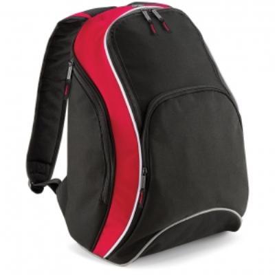 Sac à dos loisirs 21L - Teamwear Bacpack - BG571 - noir rouge blanc