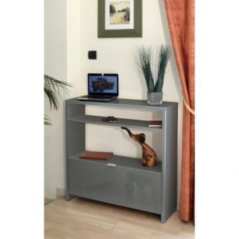 shoes console meuble a chaussures 93 cm gris haute brillance achat prix fnac. Black Bedroom Furniture Sets. Home Design Ideas