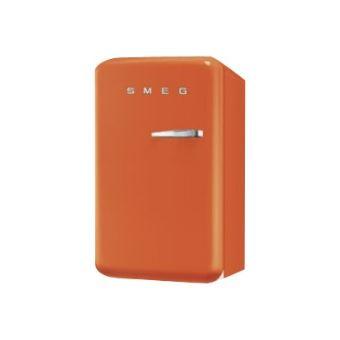 smeg 39 50 fab10lo r frig rateur avec compartiment freezer pose libre 55 cm orange achat. Black Bedroom Furniture Sets. Home Design Ideas