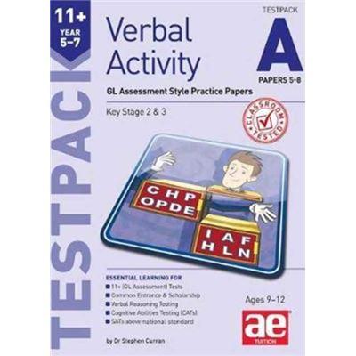 11+ Verbal Activity Year 5-7 Testpack A