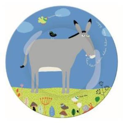 Petit Jour Paris - Assiette - Ferme : Portrait l'âne